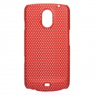 Stylish Mesh Design Protective Case for Samsung Galaxy Nexus i9250 - Deep Red