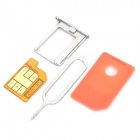 REBEL4S SIM Unlock Card with Card Tray Holder for iPhone 4S IOS5.1 (GSM / WCDMA)