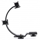 C-Shaped Bracket for Camcorder Video Light - Black