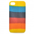 Creative Sweater Style Protective Case for Iphone 4 / 4S - Yellow + Blue + Black + Red + Orange