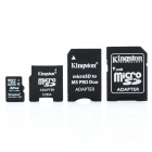 Genuine Kingston TF / Micro SD Memory Card w/ SD / MS PRO Duo / Mini SD Adapter - 32GB (Class4)