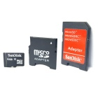 Genuine SanDisk TF / Micro SD Memory Card w/ SD / Mini SD Adapter - 4GB (Class 4)