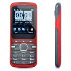 "Q8 GSM Bar Phone w/ 2.2"" LCD Screen, Dual SIM, Triple Band and FM - Red + Grey"