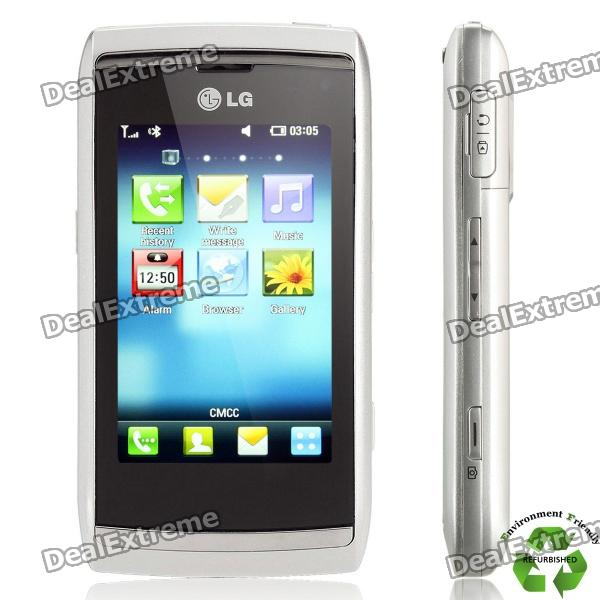 "Refurbished LG GC900 WCDMA Cellphone w/ 3.0"" Capacitive, GPS and Wi-Fi - Black"