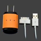 USB Power Adapter Charger for iPhone/iPod/HTC/Samsung/Nokia - Orange
