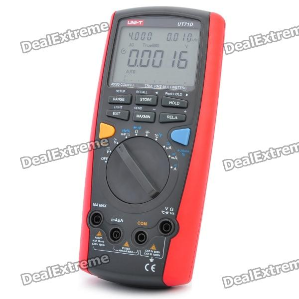 UNI-T UT71D 2.9 LCD Digital Multimeter - Red + Grey (1 x 9V 6F22) nyx professional makeup кремовая жидкая помада с металлическим эффектом cosmic metals lip cream out of this world 03