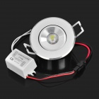 1W 80-120LM 6000-7000K 1-LED Neutral White Light Ceiling Lamp - Silver (220V)