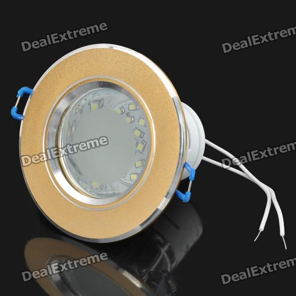 1.5W 6000-7000K 110-170LM 24-SMD LED White Light Ceiling Down Lamp w/ Driver (AC 220V)
