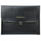Stylish Protective PU Leather Case for New iPad - Black