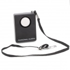 Square 130dB Anti-Rob Personal Security Alarm w/ Strap - Black (6F22 / 9V)
