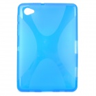 Protective TPU Back Case for Samsung P6800 Galaxy Tab 7.0 Plus - Transparent Blue