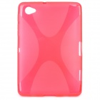 Protective TPU Back Case for Samsung P6200 Galaxy Tab 7.0 Plus - Transparent Red