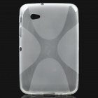 Protective TPU Back Case for Samsung P6200 Galaxy Tab 7.0 Plus - Transparent White
