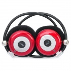 USB Rechargeable MP3 Player Stereo Headset w/ FM / TF Slot - Red