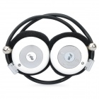 USB Rechargeable MP3 Player Stereo Headset w/ FM / TF Slot - White