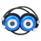 USB Rechargeable MP3 Player Stereo Headset w/ FM / TF Slot - Blue