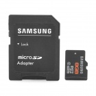 Genuine Samsung CLASS 10 Micro SD/TF Card with SD Card Adapter - Black (8GB)