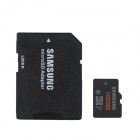 Genuine Samsung CLASS 10 Micro SD/TF Card with SD Card Adapter - Black (16GB)