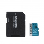 Genuine Samsung CLASS 6 Micro SD/TF Card with SD Card Adapter - Black (16GB)