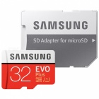 Genuine Samsung CLASS 10 Micro SDHC Card with SD Card Adapter - Black (32GB)