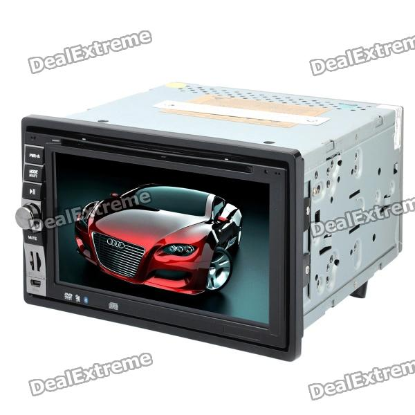 "6.5"" Touch Screen Car DVD Player GPS Navigator w/ Bluetooth / FM / AM / Analog TV / Remote - Black"