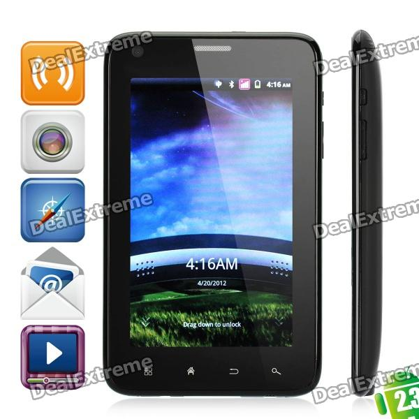 """J8000 Android 2.3 WCDMA TV Smart Phone w/ 5.0"""" TFT Capacitive, Dual SIM, Wi-Fi and GPS - Black"""