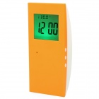 "2.0"" LCD Talking Digital Alarm Clock - Orange + White (2 x AAA)"