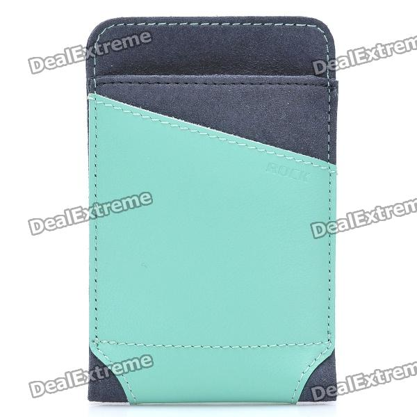 ROCK Dynamic Protective Leather Slide-in Case for Cellphone - Green + Grey (Size L)