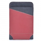 ROCK Dynamic Protective Leather Slide-in Case for Cellphone - Red + Grey (Size L)