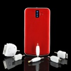 Tragbare 3200mAh Mobil External Power Battery Pack w / Adapter & LED weißes Licht - Rot