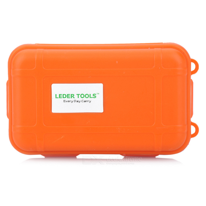 Hard Silicone Tool Storage Box - Orange