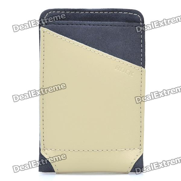 ROCK Dynamic Protective Leather Slide-in Case for Cellphone - Beige + Grey (Size S)