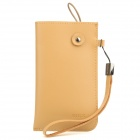 ROCK Protective Cow Leather Case Pouch Bag w/ Strap for Cell Phone - Earthy