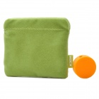 ROCK Protective Storage Pouch Bag + Cable Winder Organizer Set for Earphone - Green + Orange