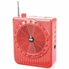 Multi-Function Megaphone Voice Amplifier w/ DC / USB 2.0 / 3.5mm Audio / TF - Red