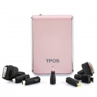 Echte 8800mAh Akku Mobile Power Pack mit 7 LED-Adapter & White Light Taschenlampe - Pink