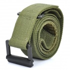 Designer's Rescue Riggers Tactical Rappelling Nylon Belt w/ Metal Buckle - Army Green (132cm)