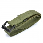 Rescue Riggers Tactical Rappelling Nylon Belt w/ Metal Buckle - Army Green (132cm)