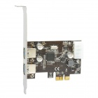 2-Port USB 3.0 PCI-Express Expansion Card - Black