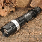 NEW-H50B XR-E Q5 White LED 3-Mode 370LM Convex Lens Flashlight w/ Batteries & Charger (1x18650)