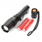 NEW-111C 5-Mode 1000lm LED Convex Lens Flashlight (2*18650)