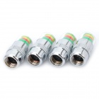 Tire Pressure Realtime Warning Air Valve Indicators - Silver (4PCS)