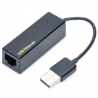 USB 2.0 10/100 Mbps Ethernet Adapter - Schwarz