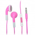 Fashion 3.5mm Stereo Earphone with Microphone for iPad/iPhone/iPod - Pink (108cm)
