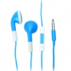 Fashion 3.5mm Stereo Earphone with Microphone for iPad/iPhone/iPod - Blue (108cm)