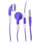 Fashion 3.5mm Stereo Earphone with Microphone for iPad/iPhone/iPod - Purple (108cm)