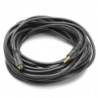 3.5mm Male to Female Audio Extension Cable - Black (10m-Length)