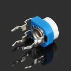 0.1W 50V Horizontal 204 200K Ohm Blue & White Adjustable Resistor - Blue + White (10-Piece)