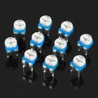 0.1W 50V Horizontal 101 100 Ohm Blue & White Adjustable Resistor - Blue + White (10-Piece)