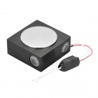 X-006 4-Direction 4x1W LED Wall Light with Red / Blue / Green / Warm White Light - Black